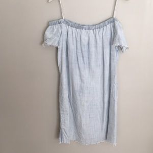 Cloth and Stone denim strapless dress M